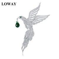 LOWAY Speciale New European American Originale Aquila Disegno Delle Donne di Modo Grande Uccello Spilla Regalo Di Natale All'ingrosso HJ8061