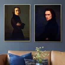 Hungría Franz Liszt padre de el Piano de pinturas de pared Vintage cartel de papel Kraft recubierto etiqueta de la pared decoración foto regalo