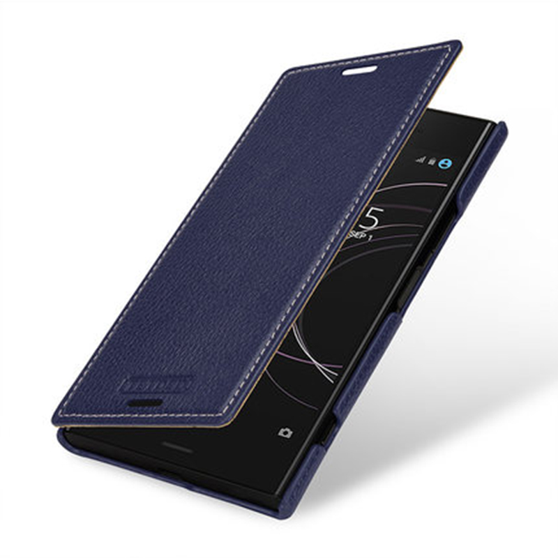 For Sony Xperia XZ1 Compact 4.6 Case Business Style Book Flip Case Genuine Leather Cover Bag for Sony XZ1 5.2 Phone Accessory