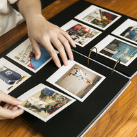 Black Sheets DIY Handmade Baby Album Creative Couple Polaroid Photograph Pasting Family Album Frame Photo Albums for Newborn
