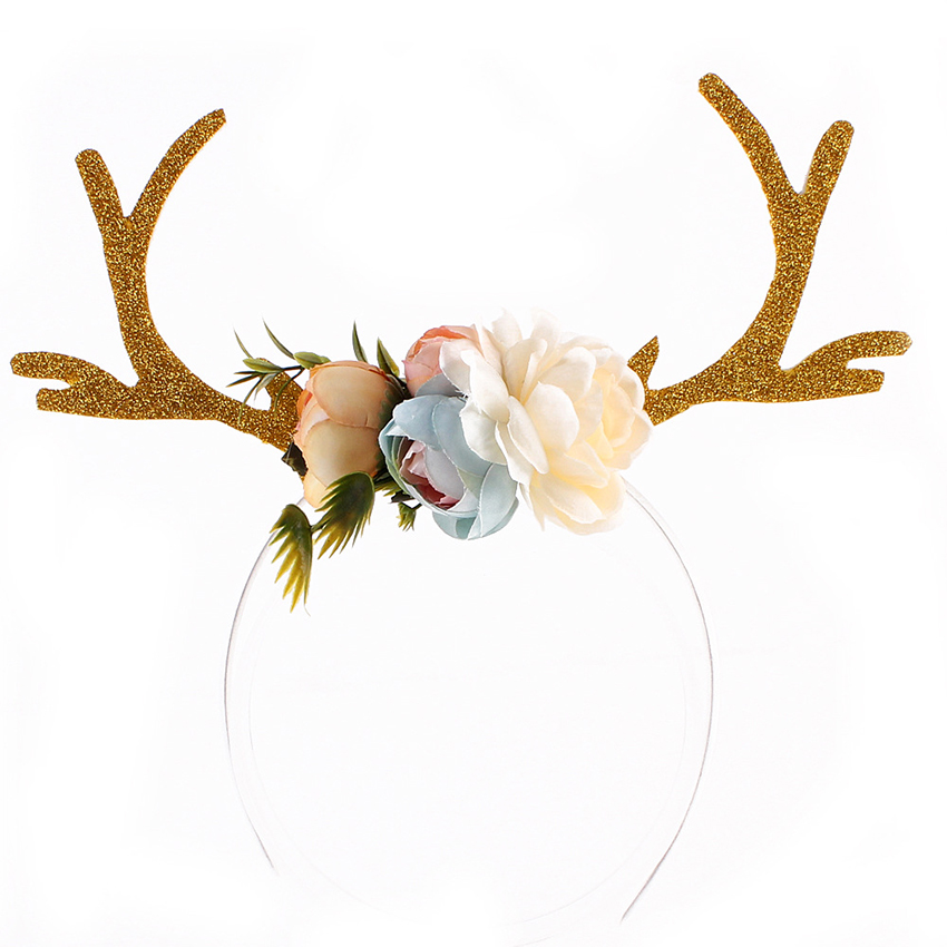 Christmas Headbands Hat Fancy Dress Reindeer Antlers Santa Xmas Party Kids Adult Children Kid's Party Cartoon Hats
