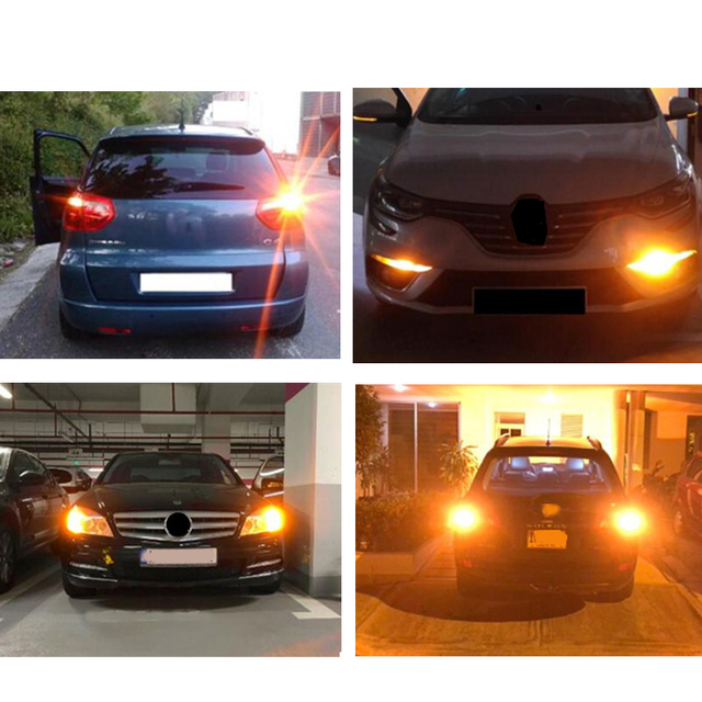 1x 3014 144smd CanBus S25 1156 BA15S P21W LED BAY15D BAU15S PY21W lamp T20 LED 7440 W21W W21/5W led Bulbs For Turn Signal Light 6