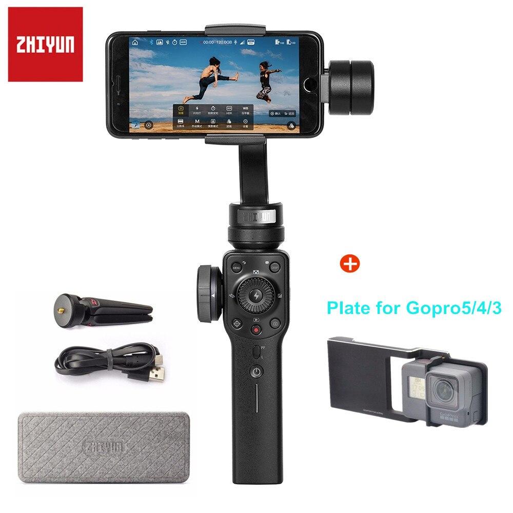 Zhiyun Suave-Q Suave 4 3-Eixo Cardan Handheld Estabilizador de Telefone Do Moblie para iPhone 6 7 8 X samsung Galax S8 Além Disso Smartphone
