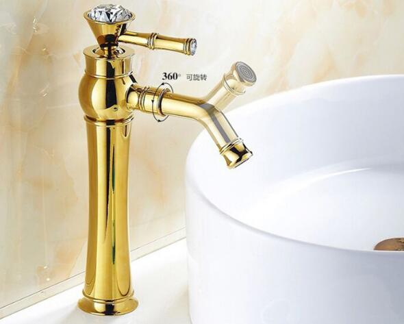 Vidric Modern Gold Faucet bathroom cold and hot water faucets bathroom tall sink faucet home supplies bath taps mixerVidric Modern Gold Faucet bathroom cold and hot water faucets bathroom tall sink faucet home supplies bath taps mixer