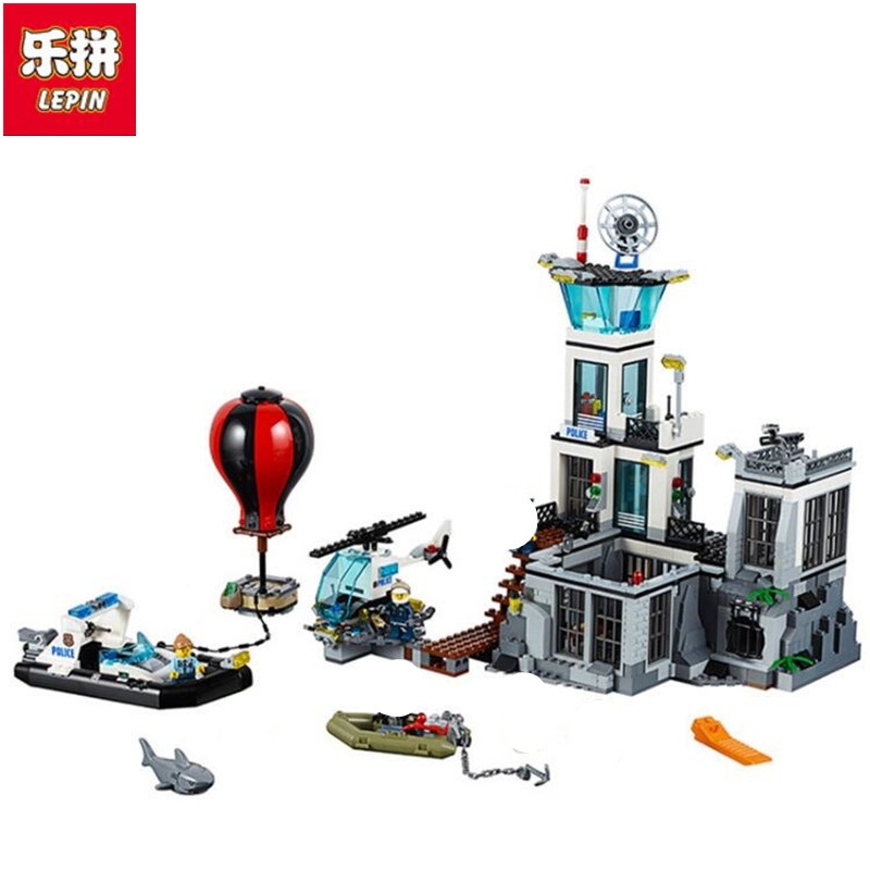 Lepin 02006 815pcs Building Blocks City Series The Prison Island Compatible with Models Building Toy 60130 toys & hobbies gift original box bevle store lepin 02006 815pcs city series sea island prison building bricks blocks children toys gift 60130