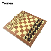 Yernea New Chess Wooden Game And Folding King 7CM Set 34*34*1.8CM Board Entertainment Gift