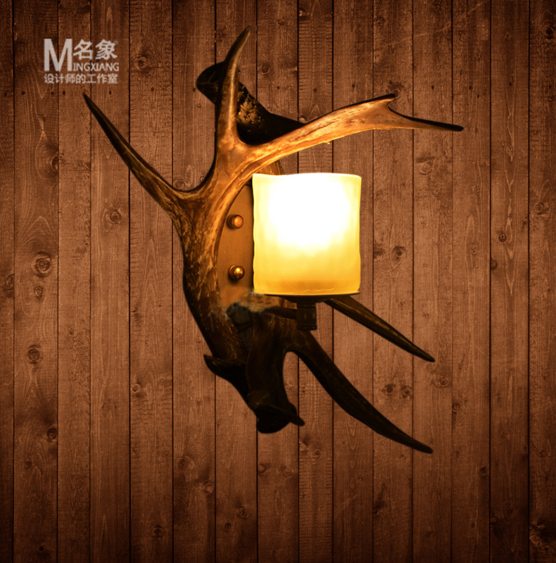 Loft Style Antler Wall Lamp Vintage Bedroom Light Coffee Shop Light Living Room Aisle Wall Lamp 350*400MM Free Shipping