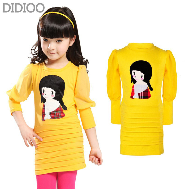 цена Kids dresses for girls clothing summer style cute cartoon girl party dress baby kids clothes Children Fashion princess outfits