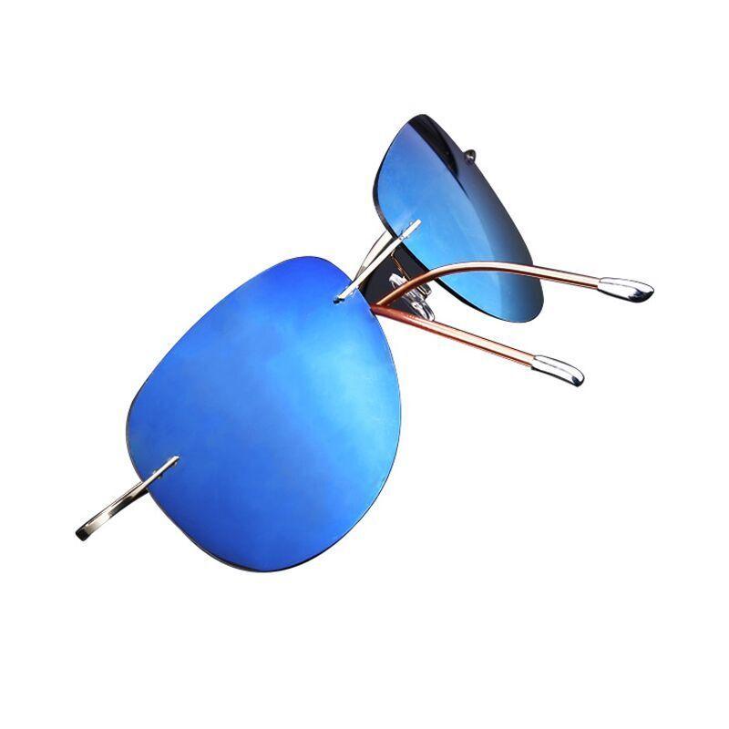 Image 4 - مشرق 2019 الأكثر مبيعا خفيفة للغاية بدون إطار التيتانيوم الاستقطاب النظارات الشمسية الرجال النساء القيادة العلامة التجارية نظارات شمسية الظل Oculos دي سولde soloculos de solpolarized sunglasses men -