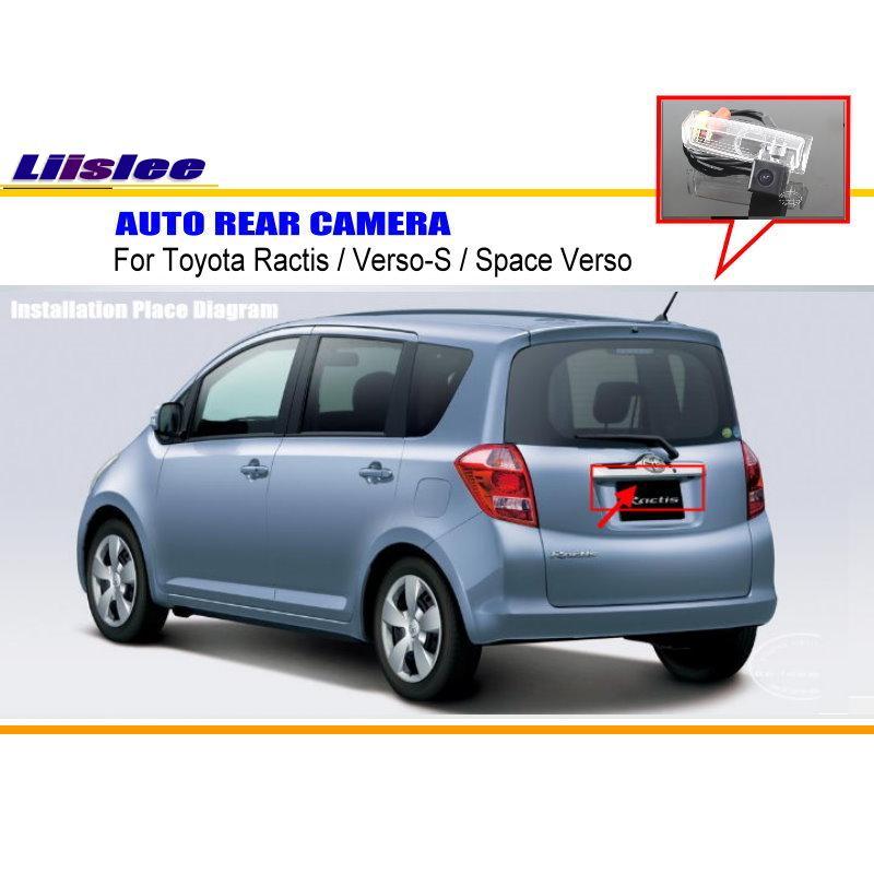 Liislee Pour Toyota Ractis/Verso S/Espace Verso Caméra de Recul/de sauvegarde Parking Caméra/NTST PAL/Plaque D'immatriculation Lampe OEM dans Véhicule Caméra de Automobiles et Motos