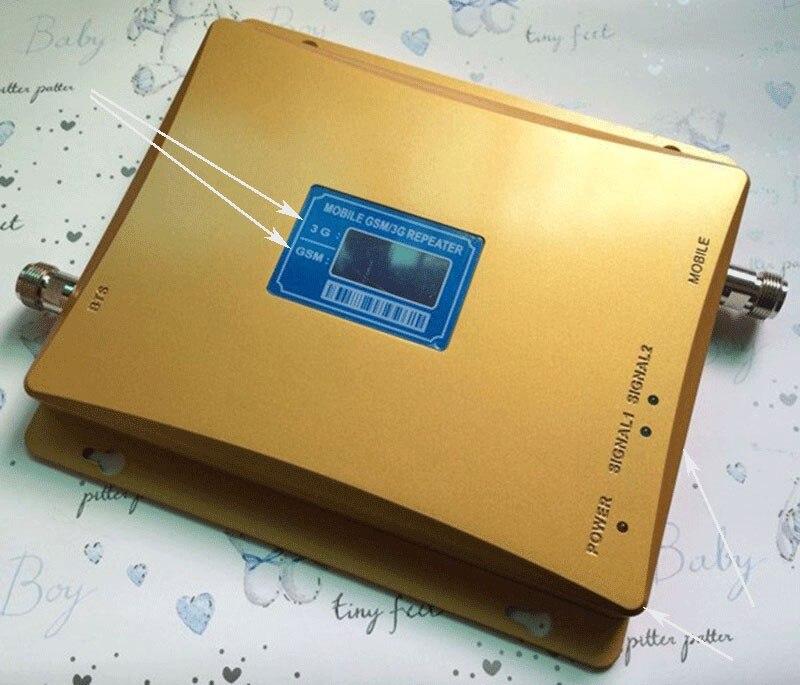 Affichage à cristaux liquides chaud 3G W-CDMA 2100 MHz GSM 900 Mhz double bande amplificateur de Signal de téléphone portable GSM 900 2100 UMTS amplificateur de répéteur de Signal