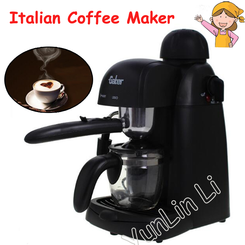 Espresso Coffee Maker Homemade Cappuccino Commercial Semi-automatic Type Steam Milk Coffee Machine tsk-183 italy espresso coffee machine semi automatic maker cup warming plate kitchen