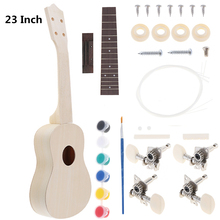 23 Inch Ukulele DIY Kit Professional Rosewood Fingerboard Hawaii Guitar for Handwork Painting Parents-child Campaign