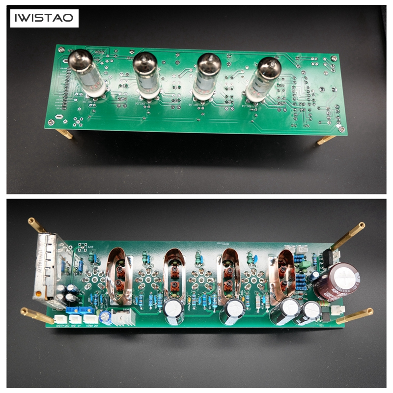 IWISTAO Intermediate Frequency Amplification Finished PCBA Tube 6K4 & High-frequency Head HIFI Audio 110V/220V DIY iwistao finished tube fm stereo radio tuner whole aluminum chassis gold support bluetooth 4 0 sd card u hifi audio 110v 220v