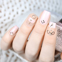 12 Patterns/Box Rose Gold Plated 3D Nail Decoration in Wheel Hollow Metal Studs Manicure Nail Art Decorations Body Art