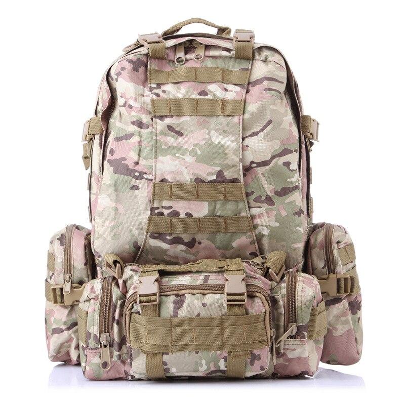 4 en 1 50L sac à dos en plein air Molle militaire sac à dos tactique sac à dos sac de sport étanche Camping randonnée sac à dos pour voyage