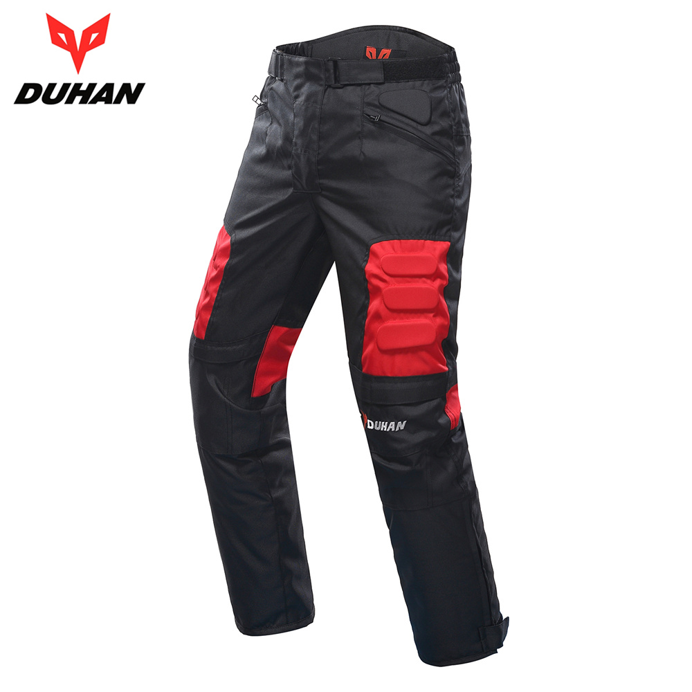 DUHAN Motorcycle Pants Men Motocross Pants Trousers Pantalon Moto Pants Motorbike Hip Protector Motocross Equipment DK-02