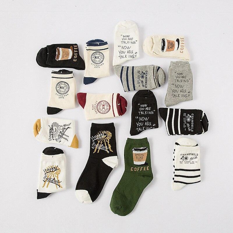 POENFLY New Cute Harajuku Style Funny   Sock   For Women Brand fun   Socks   Casual Novelty Short Combed Cotton Korea Hip Hop Style