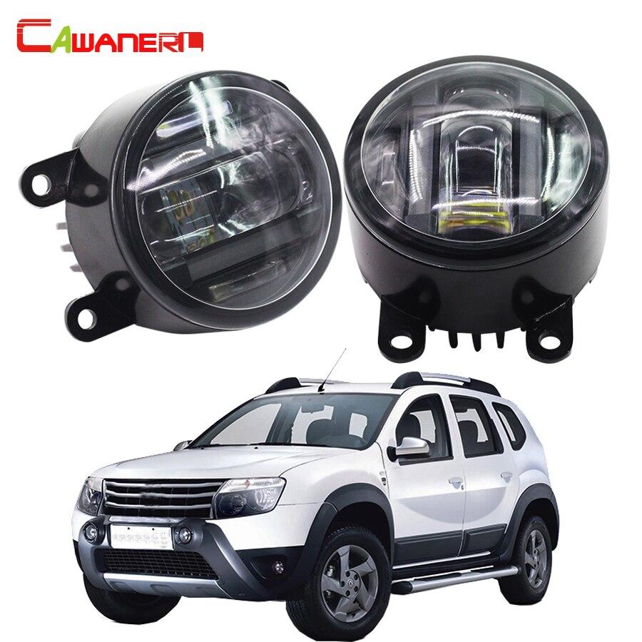 Cawanerl For Renault Duster SUV 2012-2015 Car LED Right + Left Fog Light Daytime Running Lamp DRL High Power renault duster в нижнем новгороде где купить