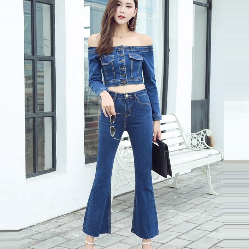 Summer Blue Jean Jacket Jeans Pant Full Sleeve Denim -6857