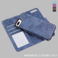 Pour Apple iPhone XS Max X XR 5 SE 6 6s 7 8 Plus étui portefeuille Couqe magnétique luxe cuir Funda 7Plus 8plus housse de protection coque