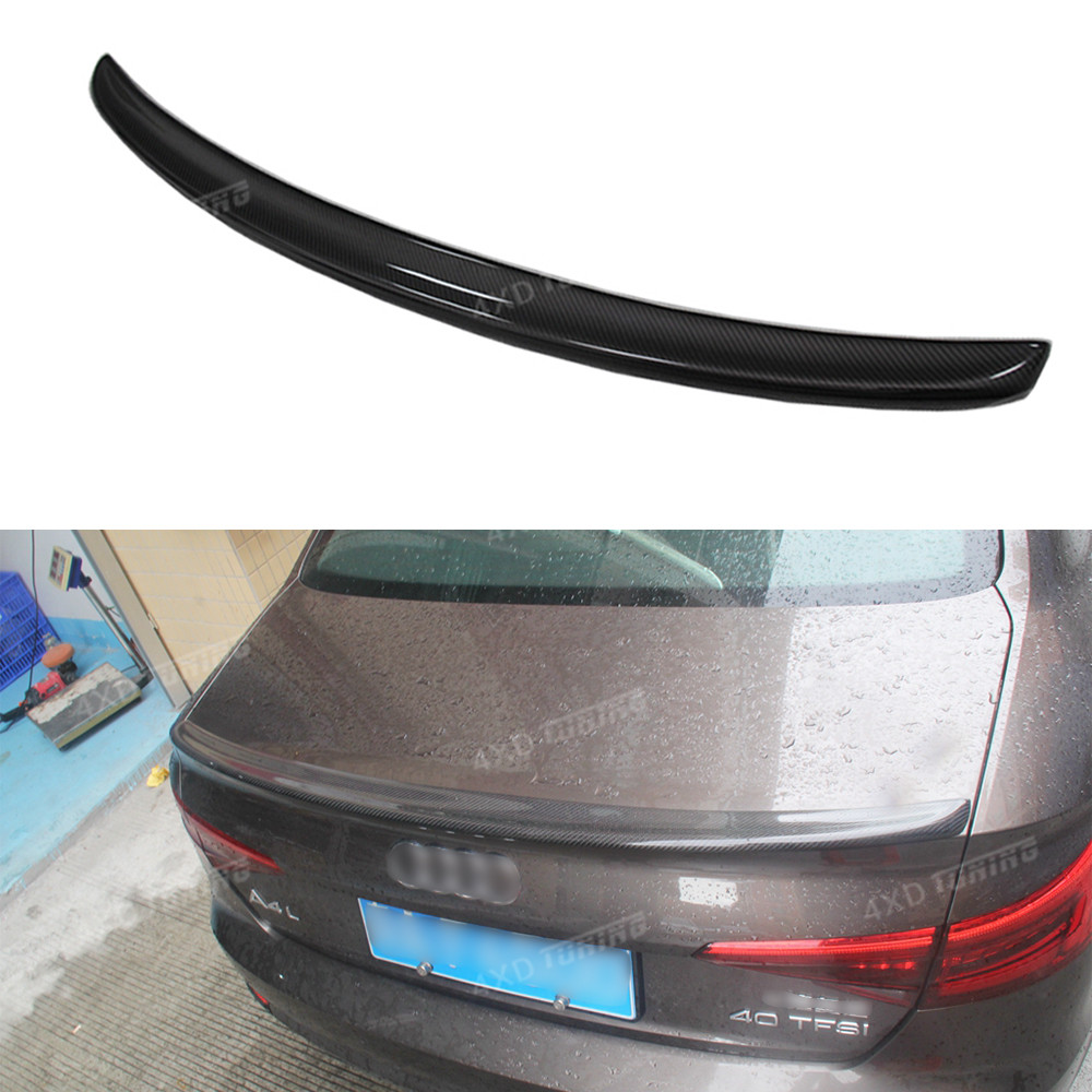 For Audi A4 B9 Carbon Rear Soiler S4 Style Carbon Fiber Rear Spoiler Rear Trunk wing Spoiler For Audi A4 B9 2016 2017 2018 - UP carbon fiber for audi a4 b9 sedan avant allroad quattro 2016 2017 transmission shift gear panel molding garnish cover trim