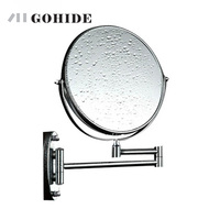 DUH A Decoration Makeup Mirror Cosmetic Double Faced Mirror Bathroom Wall Mounted Round Mosaic Decorative Mirror With Light