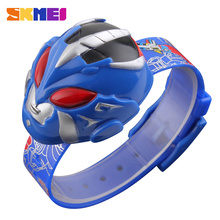 SKMEI Children Watch Digital Clock Cute Wristwatches Cartoon Superman Toy Shape Dial Sports Watch for Kids Relogio Relojes 1239