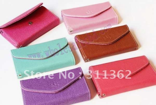 30pcs/lot New Arrival Card Holder Wallet Case Korea Ardium Smart Fold Multi Pouch for iphone 4g 4S