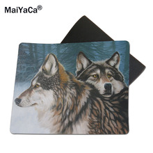 MaiYaCa Painted Wolves Mouse Mats Pc Laptop computer Notbook 18*22cm and 25*29cm Lock Edge and No Lock Edge Mouse Pad