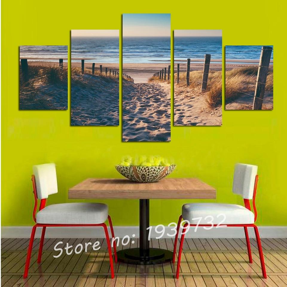 Aliexpress.com : Buy 5 Piece Canvas Art Cityscape Abstract Canvas ...