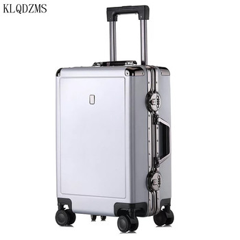 KLQDZMS High Quality 20/24Inch PC Rolling Luggage Spinner Men Business Travel Suitcase  Women Carry On  Trolley Luggage