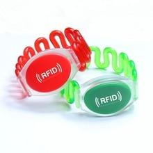 Водонепроницаемый мода rfid-браслетов, Rfid-тегов браслет с TK4100 чип, Аквапарк и бассейн rfid-тегов, Бесплатная доставка