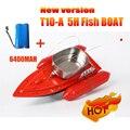 2016 Más Reciente T10-A versión de actualización de 5 horas/6400 MAH Control Remoto de Cebo vivo Barco de pesca/barco de rc barco de los pescados señuelo/Anti Viento 1200G