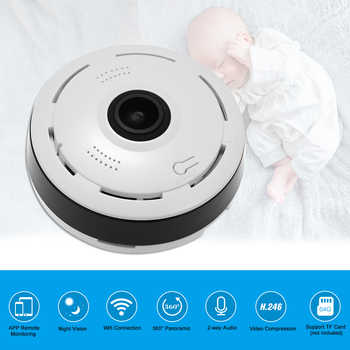 Wireless IP Camera 960/1080P Mini Panoramic Fish Eye WIFI 360 Degree Camera for Android/IOS APP Remote Control Motion Detection - DISCOUNT ITEM  35% OFF Security & Protection