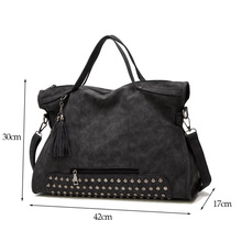 Bolish Drop shipping Bolsa Feminina Female High Capacity Tassel Crossbody Bag Lady All-Purpose Style Daily Shopping Handbag