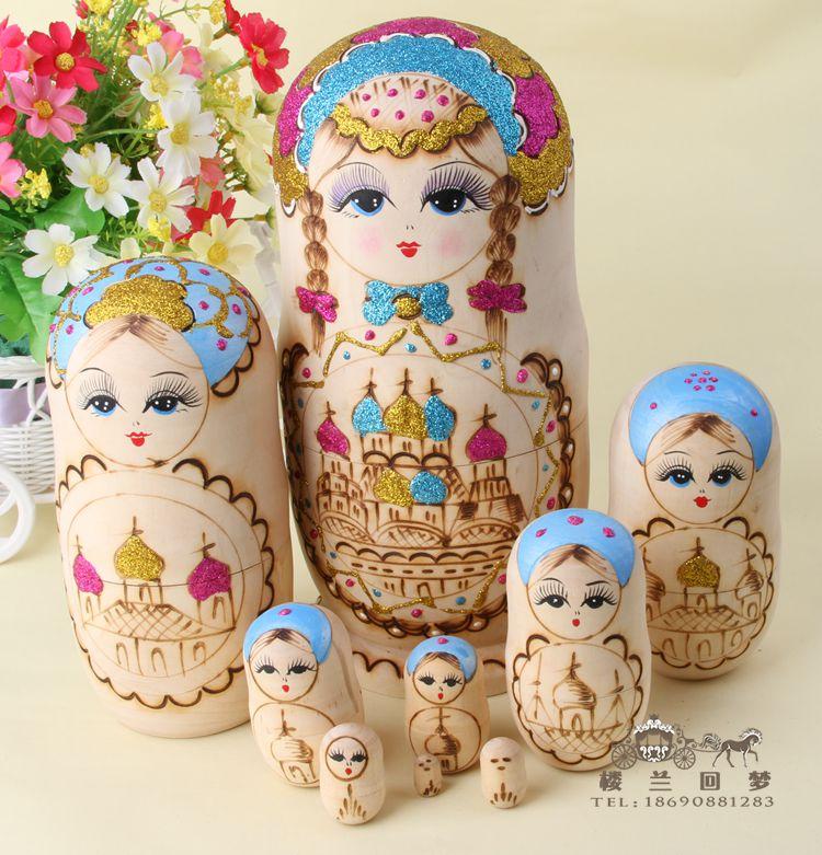 Magasin de poupée professionnel odeur d'importations sans formaldéhyde authentique bois de tilleul sculpté à la main matriochka 8 étages importés jouets Xi