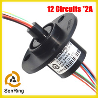 Electronics Slip Ring 22mm 12 Circuit Gold To Gold Contacts Capsule Slip Rings