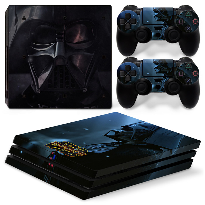 OSTSTICKER Black Armor Warrior Skin Sticker For Sony PS4 Pro for Playstation 4 Pro Console and Controller Skin Sticker Decal
