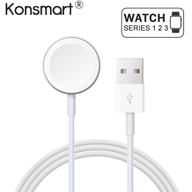 Konsmart Original Schnelle Drahtlose Ladegerät Adapter für Apple Uhr 1 2 3 Magnetische Kabel Lade für Apple Uhr 38 42mm Power Kabel