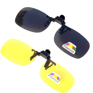 Image 4 - 2PCS Night Vision Polarized Sunglasses Clip Drive Sunglasses Goggles Resin Lenses Night Driving Glasses Car Accessories
