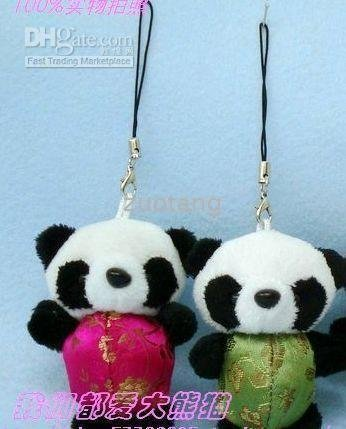 Cell Phone Straps Charms Accessories Chinese style 20% Discount 30 pcs Free New stuffed Panda