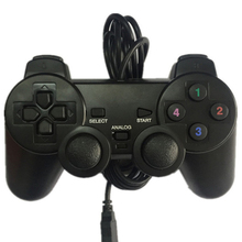 2PCS USB Gamepad Multiple Joystick Vibration Game Controller PS2 External Wired Handle Singles Computer PC Games