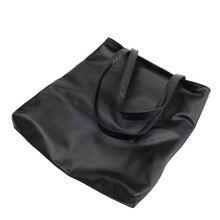 THINKTHENDO Women Faux Leather Handbag Shopper Shoulder Beach Big Bag Tote Purse Fashion
