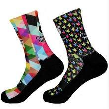 Камуфляж стиль Носки с рисунком велосипед профессиональные велосипедные носки компрессионные спортивные носки calcetines ciclismo