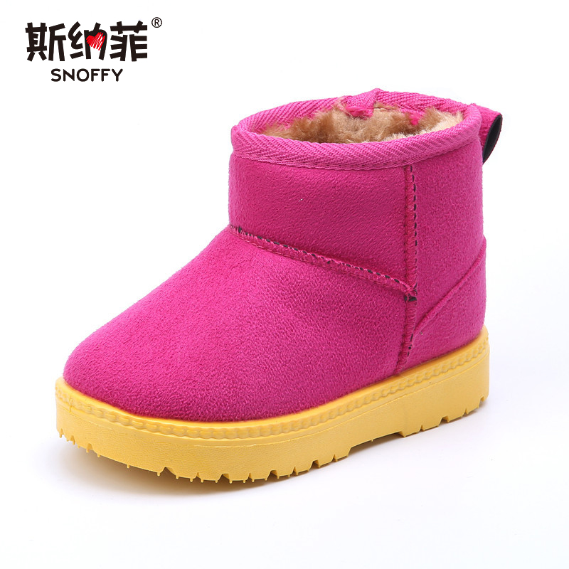 2018 new winter thick warm cotton boots for men and women plus velvet high snow boots