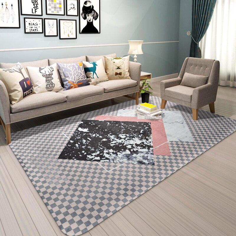 Creativity Modern Geometric Carpets For Living Room Bedroom Kids Game Rugs Child bathroom Non-slip Mats Baby Crawl Soft Tapete