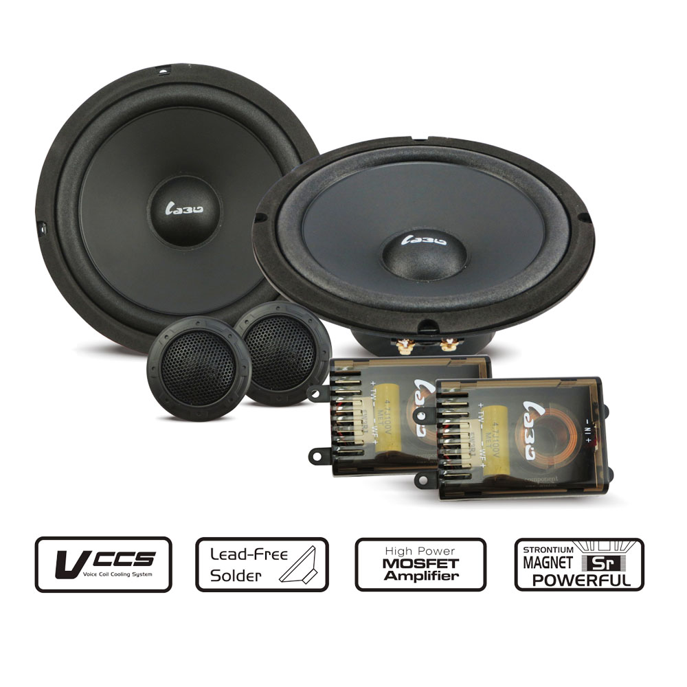 LABO 6 5inch component car speaker with high sensitivity speaker sets 150W car font b audio