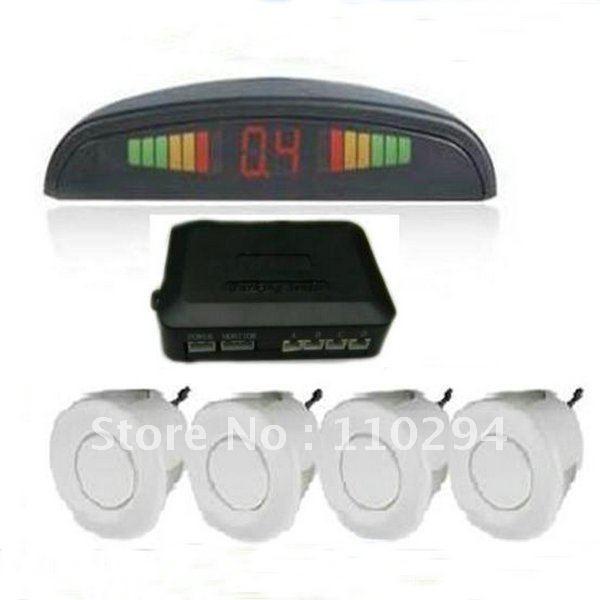 5x LED Display 4 Sensors System 12v LED Display Indicator Parking Car Reverse Radar /Black/White/silvery/PS-B/W/S