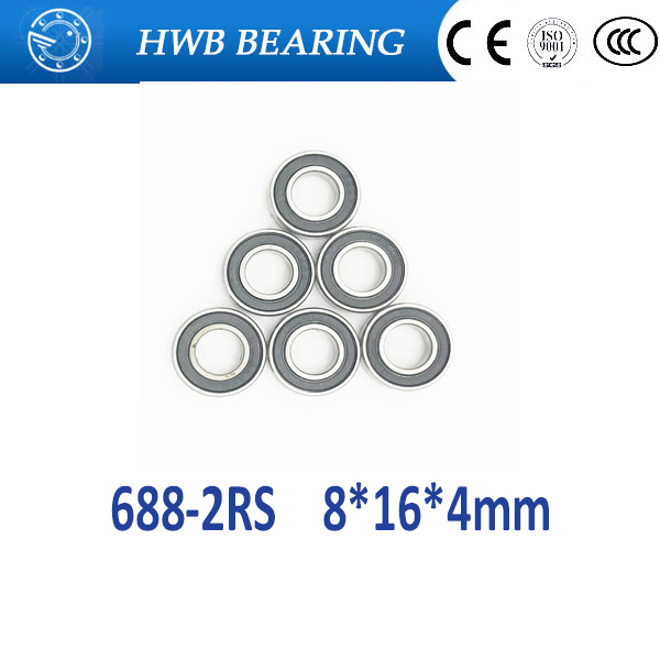 free shipping 10pcs 688-2RS 8*16*5 mm 688 rs 688rs The Rubber sealing cove Thin wall deep groove ball bearings free shipping 10pcs 6900 2rs 6900 2rs 10 22 6mm 61900 2rs the rubber sealing cover thin bearings 6900 rs 10x22x6mm for bicycle